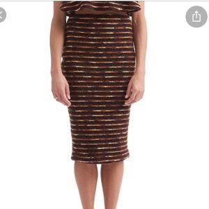 Paper Crown Mae Sheath Skirt